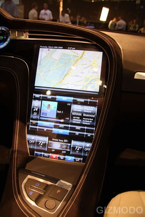 Tesla Interior Screen by Tesla Model S Interior Interface