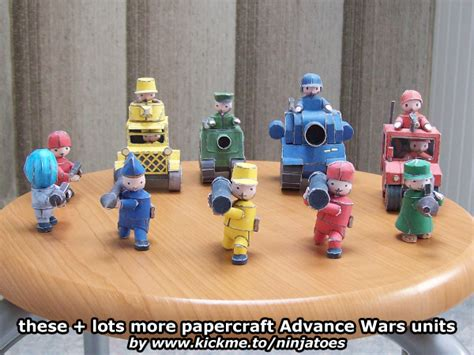 Advance Wars Papercraft - papercraft advance wars mech other units by