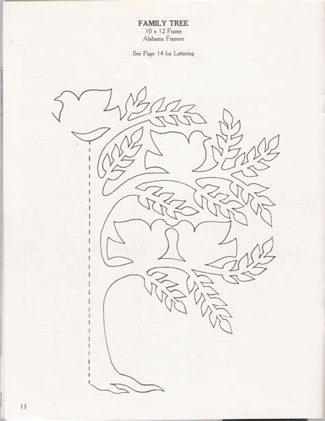 tree card template family tree paper cutting family tree