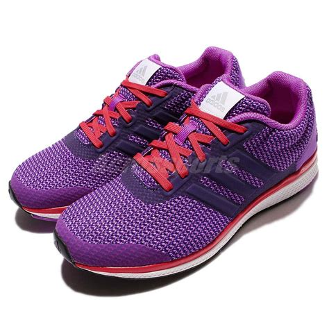 adidas lightster bounce  purple red womens running shoes sneakers ba ebay