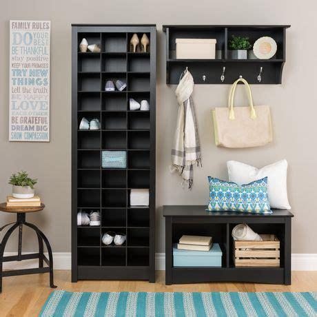 prepac space saving black shoe storage cabinet walmart