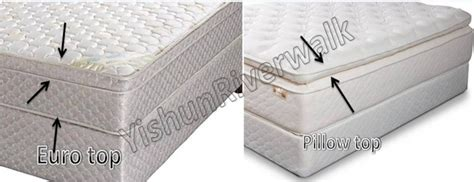 top mattress vs pillow top mattress