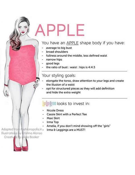 styles for apple shaped bodies apple shape lularoe which styles are best for your body