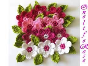 Crochet flower headband crochet pattern red heart