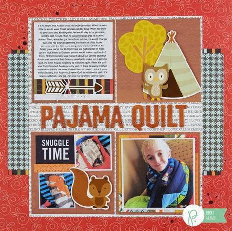 scrapbook quilt layout pajama quilt layout pebbles inc