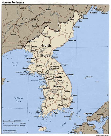 map usa and korea map of korea free printable maps