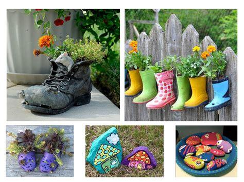 imagenes de jardines con objetos reciclados paisajismo pueblos y jardines ideas creativas de objetos