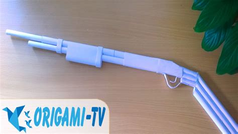 How To Make A Paper Shotgun - how to make a paper gun that shoots shotgun m5 matte
