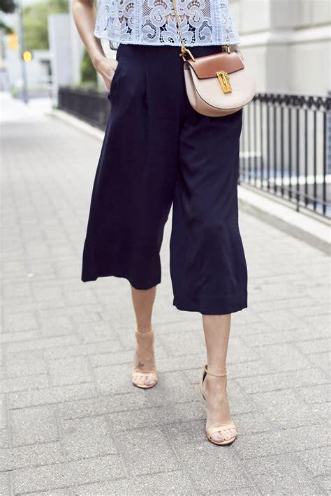 43618 Navy Vogue Cullotes blue lace top fashion jackson