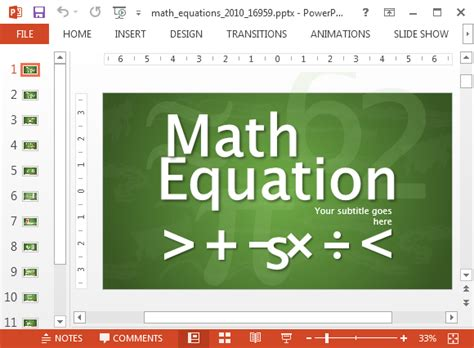 Animated Math Equations For Powerpoint Math Powerpoint Template