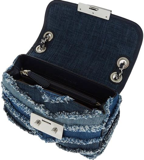 Mk Sloan Multi Denim sloan denim chevron shoulder bag endource