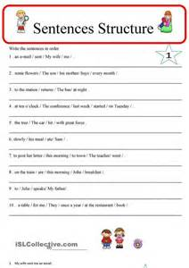 sentence structure 1 esl worksheets of the day