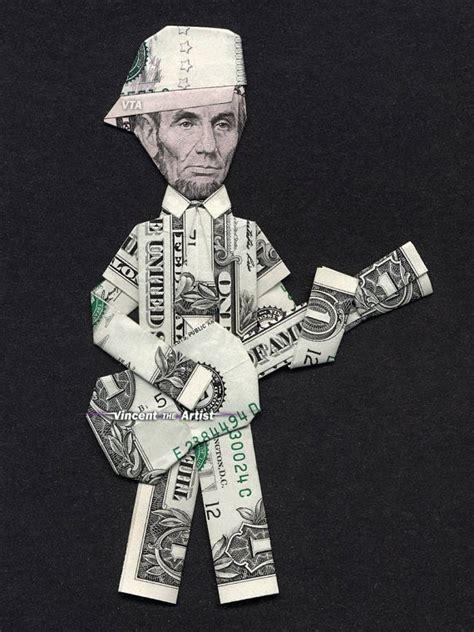 Money Origami Guitar - money origami abe lincoln guitar dollar bill