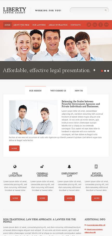 Law Firm Responsive Website Template 45261 Firm Responsive Website Template