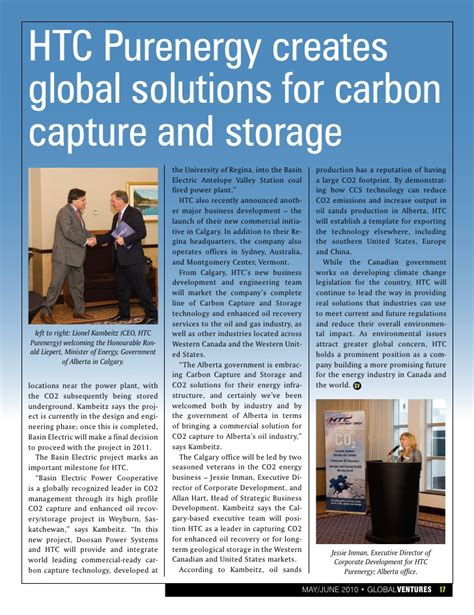 Ings Co2 Solution global ventures magazine may june 2010