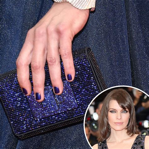 what color nail with navy blue dress navy and sparkly milla jovovich kept nails purse