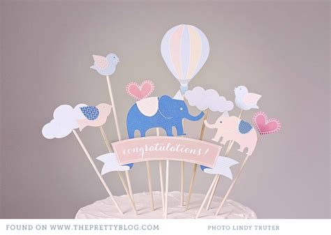 mix and match diy cake toppers sweet tidings