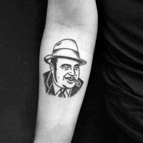 small gangster tattoos 50 al capone tattoos for gangster design ideas