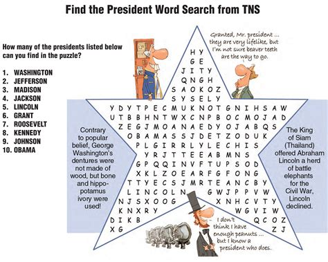 Us Search Free 28 Printable Word Search For Presidents Day President S Day Word Search For