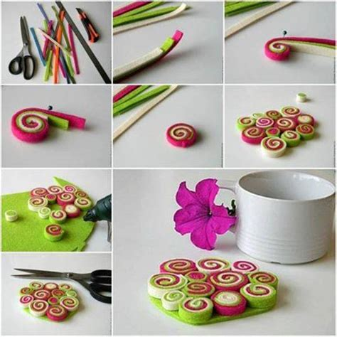 do it yourself crafts step by step find craft ideas diy easy felt coaster home design garden architecture