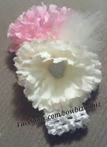Promo Headband Baby Monic Magenta Flower crochet headband with two silver embellished flowers 183 bow biz 183 store powered by