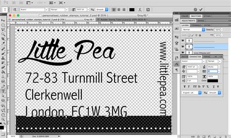 Create Personalised Rubber Sts In Photoshop Postage St Template Photoshop