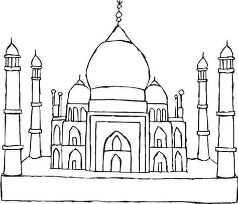 Taj Mahal Coloring Page free coloring pages of taj mahal outline
