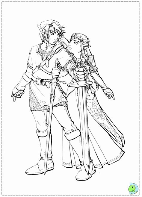 Link Zelda Coloring Pages Coloring Home Link Twilight Princess Coloring Pages Printable