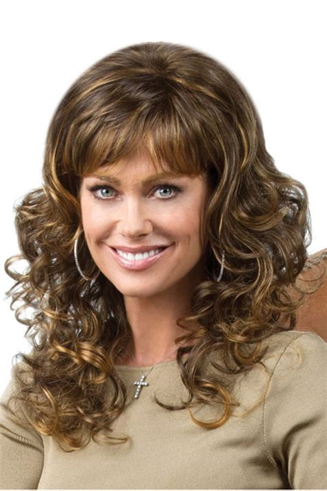 light brown curly wig light brown fashionable highlights curly synthetic