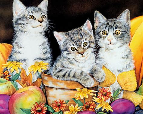 painting for cats kitten paintings maday