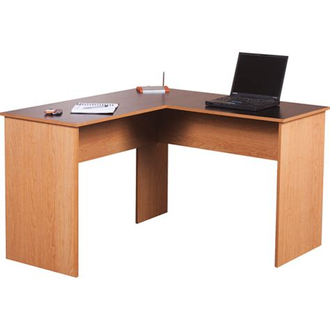 Black Desk Walmart by L Desk Black And Oak Walmart