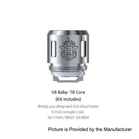 Authentic Smok V8 Baby T8 0 15 Ohm Untuk Tfv8 Baby 5pcs authentic smoktech smok tfv8 baby tank eu 0 15 ohm v8 baby t8