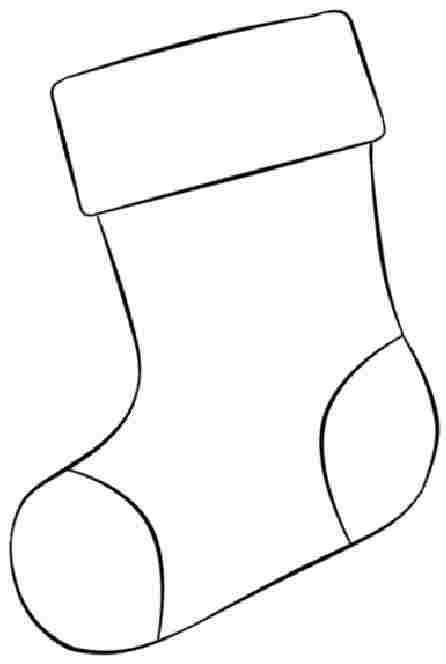 christmas stocking coloring page template best photos of stockings free christmas print free