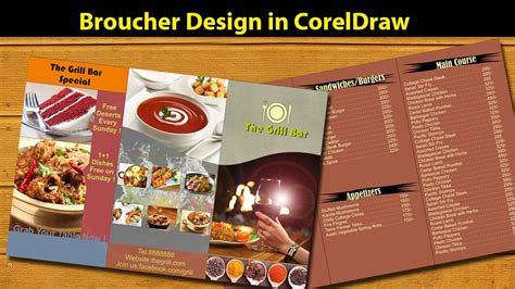 flyer design tutorial corel draw corel draw tutorial broucher design in coreldraw part 01