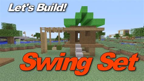 Minecraft Xbox 360: How to build a Swingset/Jungle Gym