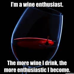 Wine Meme - i m a wine enthusiast the more wine i drink the more