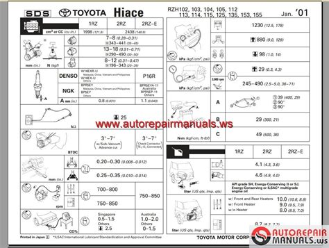 free auto repair manuals 1997 toyota corolla electronic valve timing toyota hiace 1989 2004 workshop manual auto repair manual forum heavy equipment forums