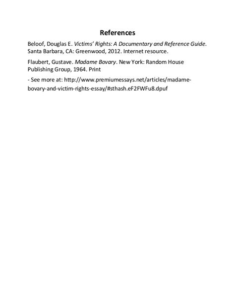 Madame Bovary Essay by Madame Bovary And Victim Rights Essay