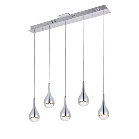 orren ellis lili  light cluster teardrop led pendant