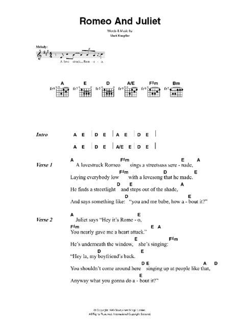 Romeo And Juliet Sheet Music | The Killers | Lyrics & Chords