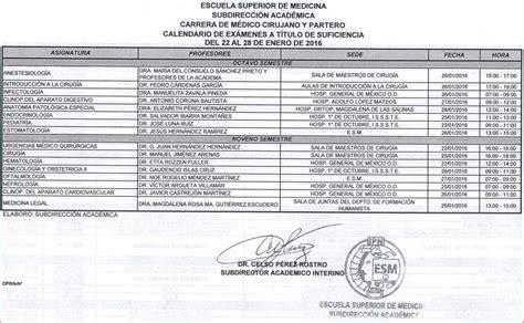 Calendario De Pagos Snte Seccion 37 2015 De La Escuela Superior De Medicina Oficial Enero 2016