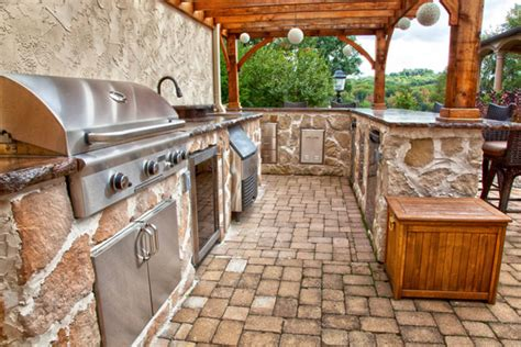 country outdoor kitchen ideas klein s lawn landscaping hardscapes outdoor kitchens