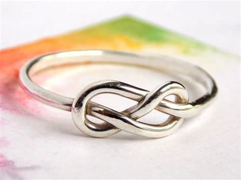 infinity knot ring sterling silver ring ring