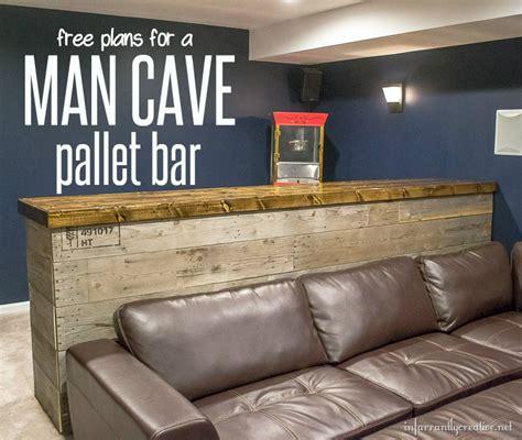 man cave wood pallet bar  diy plans