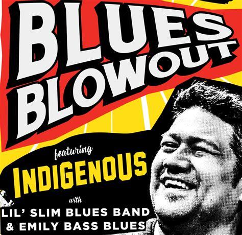 kzum blues blowout concert aug   indigenous lil slim emily bass kzum  fm local