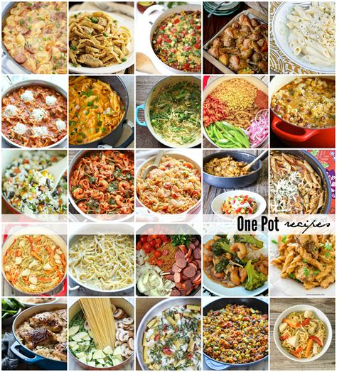 one pot dinner recipes one pot recipes the idea room