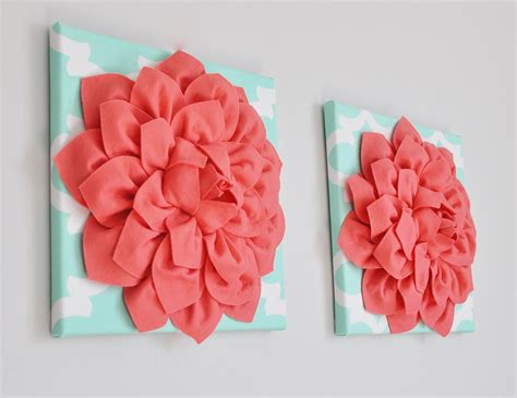 Mint And Coral Home Decor Mint And Coral Wall Trellis Decor Coral Wall Hanging