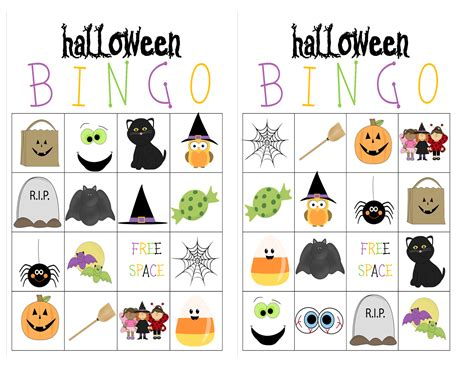 printable halloween bingo cards with pictures recipes from stephanie halloween bingo