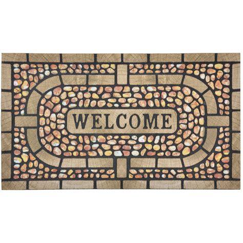 modern doormat flocked rubber modern welcome design doormat floor 75cm