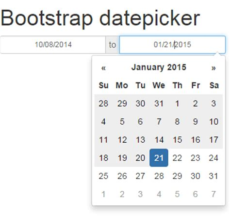 tutorial bootstrap datepicker bootstrap datepicker set up guide with 8 online demos and